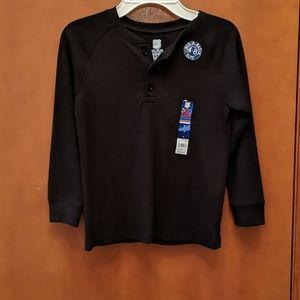NWT cotton waffle henley shirt